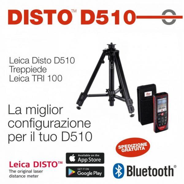 Leica Disto D510 con Treppiede TRI100